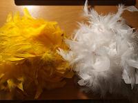 Отдается в дар Парик из перьев