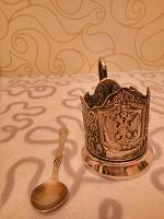 Отдается в дар Подстаканник и чайная ложка.