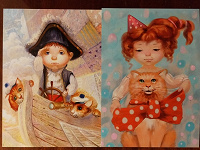Отдается в дар Мальчик и девочка на открытках