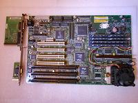 Отдается в дар Материнка от Intel под socket7 с процессором и с памятью.