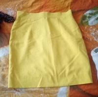 Отдается в дар Желтая юбка 46 размер