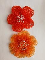 Отдается в дар Цветы из сетки от фруктов