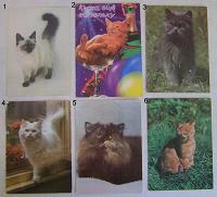 Отдается в дар Открытки с кошками
