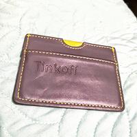 Отдается в дар Кожаный кошелек Тинькофф
