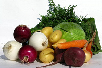 Отдается в дар Набор овощной.