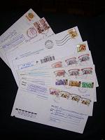 Отдается в дар конверты прошедшие почту