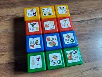 Отдается в дар Кубики пластиковые с буквами