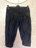 Отдается в дар Капри-бриджи джинсовые