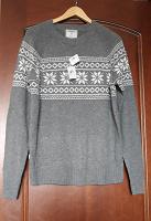 Отдается в дар Новый мужской свитер
