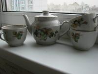 Отдается в дар Заварочный чайник и чашки завода «пролетарий»