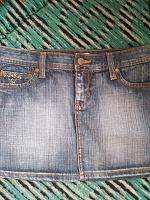 Отдается в дар юбка джинсовая со стразами