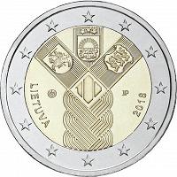 Отдается в дар 2 евро Литвы. 100-летие независимости прибалтийских государств