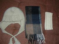 Отдается в дар Шапка, шарф, повязка.