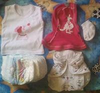 Отдается в дар малышам одежное