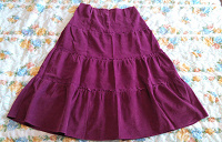 Отдается в дар Шикарная юбка вельвет, в пол!