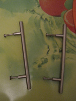 Отдается в дар Ручки мебельные сатин,96 мм 2 штуки
