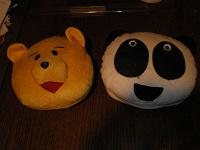 Отдается в дар Сумки для дисков Медведь и Панда