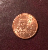 Отдается в дар 1 евро цент