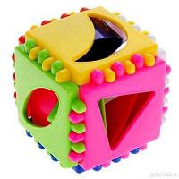 Отдается в дар Новый логический куб-сортер