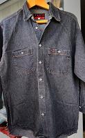 Отдается в дар Джинсовая мужская рубашка М