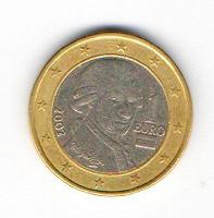 Отдается в дар Монета 1 ойро Австрии