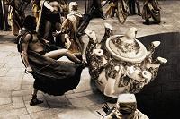 Отдается в дар Суперэксклюзив! Чайник-многочлен «Спарта» с семью носиками и рисунком