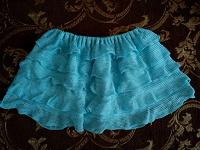 Отдается в дар Голубая мини-юбка