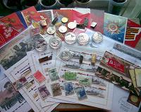 Отдается в дар Утро победы (монеты, марки, открытки, значки)