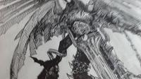 Отдается в дар Тёмный ангел картина/рисунок/графика