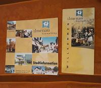 Отдается в дар Буклеты и карта города Ильменау (Германия)