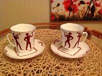 Отдается в дар Коллекционная кофейная пара, 1985г.