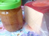 Отдается в дар Продукты: джем, сыр и колбаски