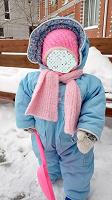Отдается в дар Зимняя шапочка для девочки — 9мес-1,5года
