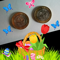 Отдается в дар Две биметаллические монеты