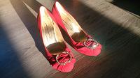 Отдается в дар Красные туфли б\у р.38