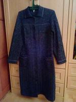 Отдается в дар Женское вязанное пальто.