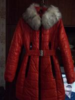 Отдается в дар зимняя длинная куртка