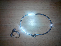 Отдается в дар Браслет и кольцо серебро