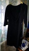 Отдается в дар Платье чёрное с драпировкой 44_46