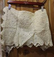 Отдается в дар небольшой платок самовязаный в русском стиле, напоминает русскую шаль
