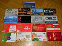 Отдается в дар Пластиковые карточки в коллекцию