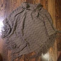 Отдается в дар Пончо вязаное, накидка, шарф