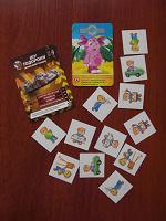 Отдается в дар Детские наклейки, домино и карточки
