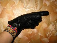 Отдается в дар Кожаные перчатки