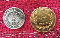 Отдается в дар две маленькие монетки
