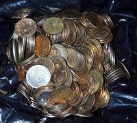 Отдается в дар Мелкие монеты, 1 кг