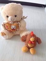 Отдается в дар Мишка без носика и Петушок