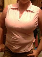Отдается в дар Розовая блузка без рукавов