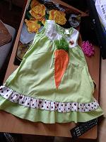 Отдается в дар Платье-морковка с божьей коровкой))до 104