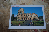 Отдается в дар Открытка с Римским Колизеем